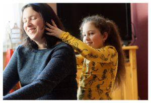 Carole et Zoé-Lisser la tête